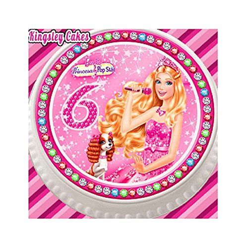 30 EDIBLE CUPCAKE TOPPERS RICE PAPER POOH BEAR AGE 2 PINK 7.5 INCH CAKE TOPPER