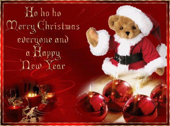 Ho Ho Ho Merry Christmas Everyone and a Happy New Year animated gif christmas merry christmas christmas quote happy new year christmas greeting christmas wishes