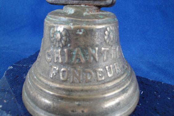 Vintage Swiss Bronze Cow Bell 1878 Salgnelegier Chiantel Fondeur from north-of-the-bay on Ruby Lane