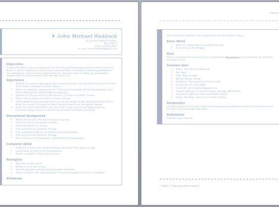 Model Resume resume sample Pinterest - resume model