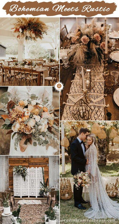 Top 11 Most Glamorous Boho Wedding Ideas Bohemian Wedding Theme Wedding Themes Fall Wedding Themes Spring