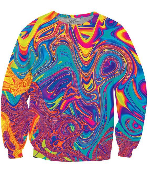 Oil Spill Crewneck Sweatshirt
