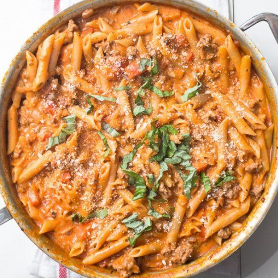 Check out One-Pot Creamy Sausage Pasta. It's so easy to ...