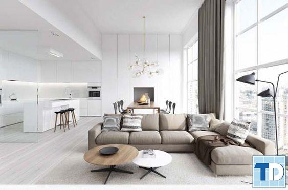 Thiết kế nội thất phòng khách hoàn hảo với nội thất đẹp