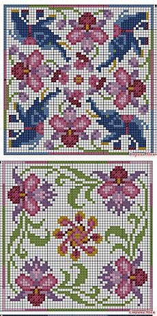 """Cross-stitch Biscornu Set ... no color chart available, just use pattern chart as your color guide.. or choose your own colors...  Бискорню """"Тайланд"""" - Бискорню и другие """"кривульки"""" - Страна Мам:"""
