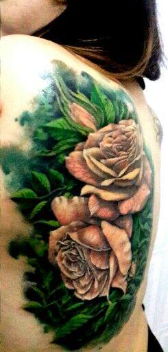 Tatuajes de rosas...