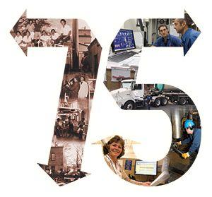 Sanimax 75th Anniversary collage..Depuis 75 ans, des générations d'employés dévoués et de loyaux clients contribuent au succès de Sanimax. Au nom de notre famille, merci.  Sanimax founders, The Coutures