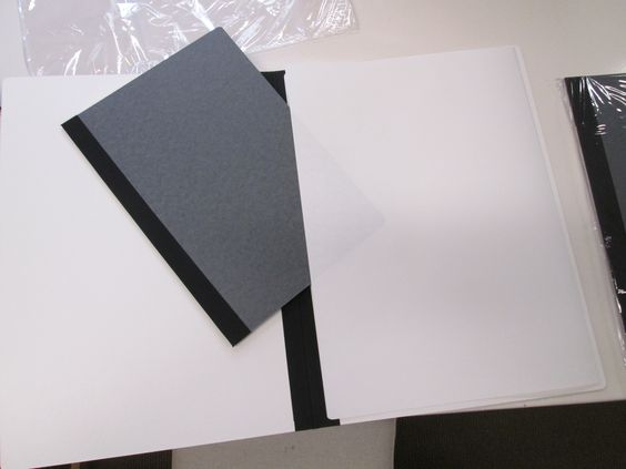 #cartella archivio per conservazione e presentazione con bordo in lino