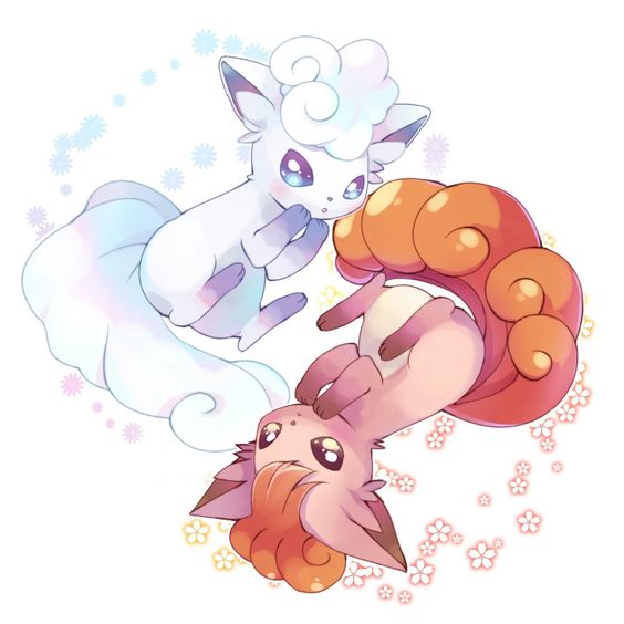 Vulpix And Alola Vulpix Video Games Pinterest Too Cute