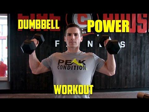 Awesome Dumbbell Power Workout For Athletes   YouTube