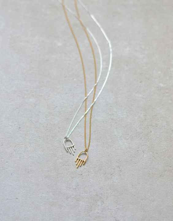 Mini hamsa necklace: