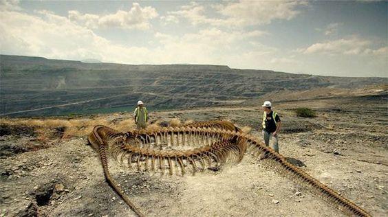 Digital reconstruction of a Titanoboa skeleton (Smithsonian Channel)