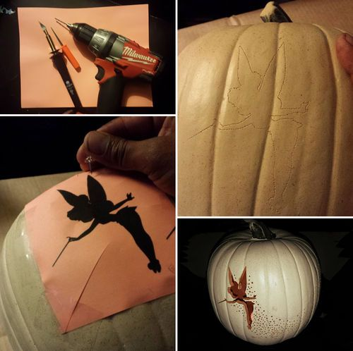 How to Make Halloween Tinker Bell Pumpkin - DIY  on imgfave: