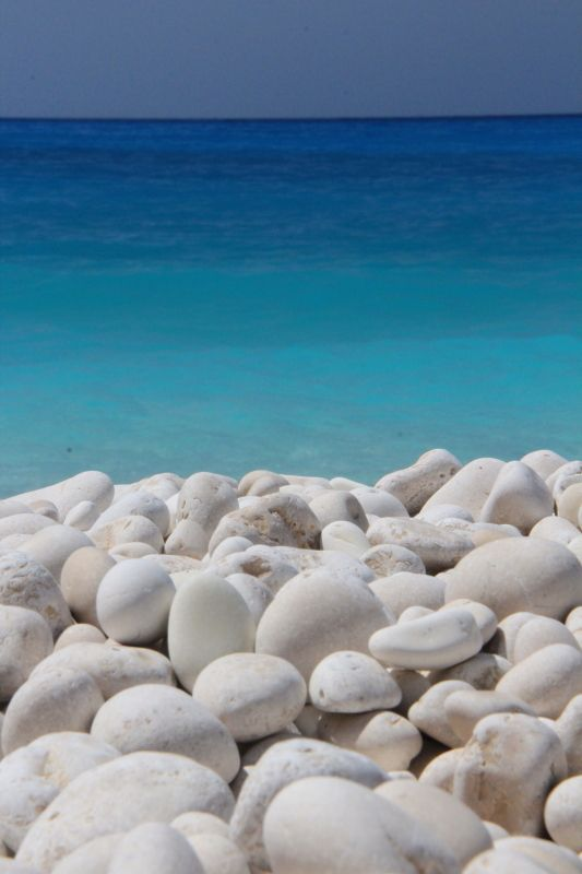 White and all shades of blue... Myrtos beach, Kefalonia , Greece  I LOVE Greece