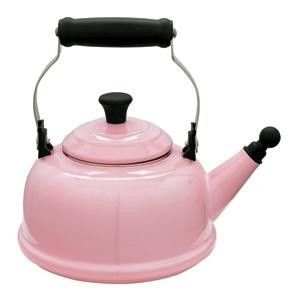 Le Creuset Pink Whistling Tea Kettle my beautiful new kettle <3:
