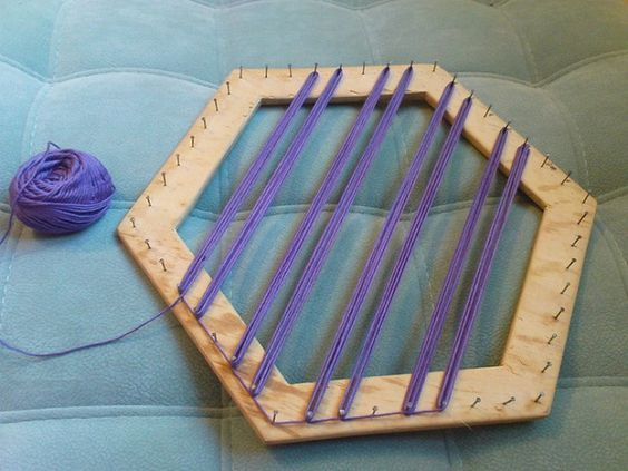 Como fazer tapete com tear - Grzero