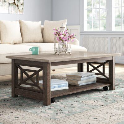 Darby Home Co Upton Cheyney Coffee Table Wayfair In 2020 Coffee Table Coffee Table Inspiration Pallet Furniture Table