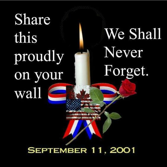 We shall never forget 9/11/01: