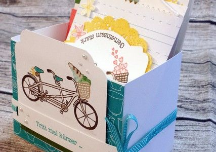 SAB-Gemeinsam-stark-2016 , cards made with the sale-a-bration set, cardbox made with gift bag board