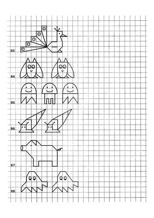 Ensena A Tu Hijo A Dibujar Antes Que Ha Escribir Enrhedando Ejercicios De Escritura Cuadricula Para Dibujar Dibujos En Cuadricula