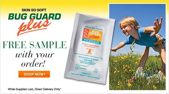 Free Avon Skin So Soft Bug Guard sample with your direct delivery - Delivery Order Sample