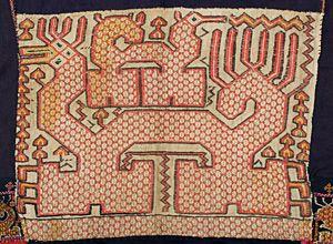 detail of Hainan Run Li jacket embroidered dragon