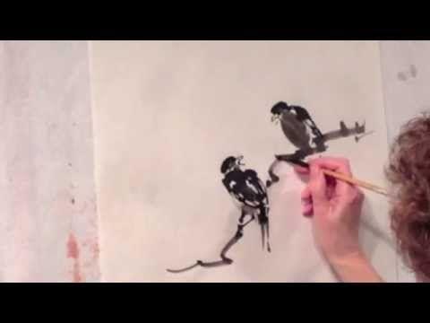 Bamboo & Peony Side Stroke Technique - YouTube