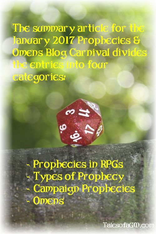 Prophecies & Omens Blog Carnival Summary » Tales of a GM