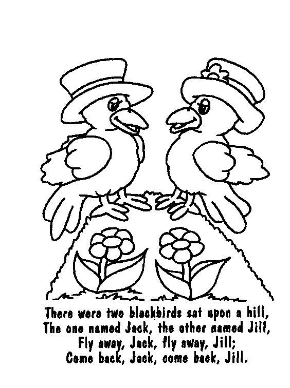 coloring pages nursey rhymes - photo#22