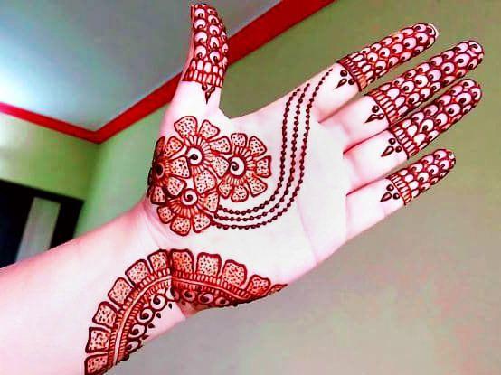 arabic style mehndi design front hand