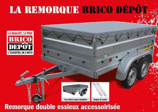 La Remorque Brico Depot 2020 Catalogues Arrivages En 2020 Remorque Double Essieux Remorque Depot