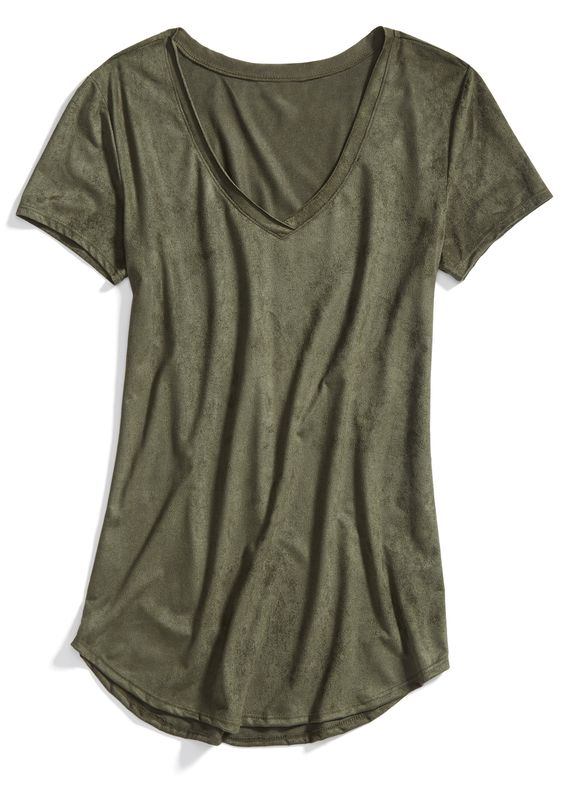Stitch Fix Winter Essentials An Olive Colored Tee Is Just