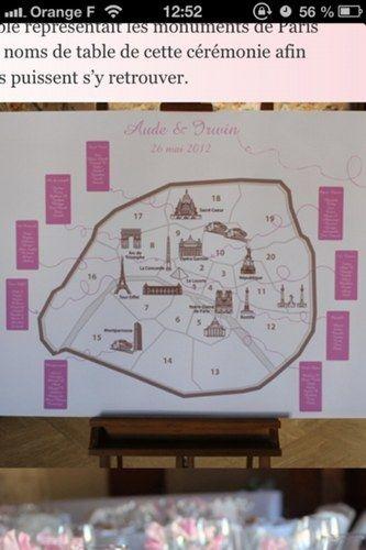 Plan de table | DIY Parisian Wedding | Pinterest | Parisian wedding ...