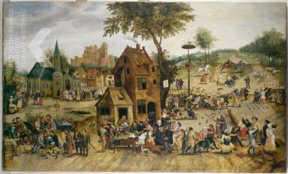 16_Питер Брейгель младший Адский (1564-1638) Крестьянский праздник_дерево (дуб) масло