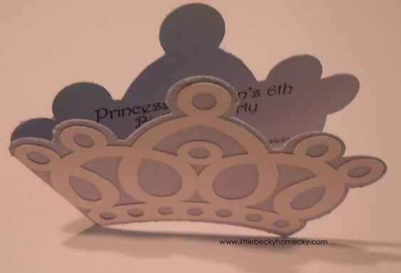 Princess Crown Invitations