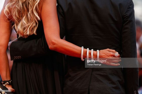 Tiziana Rocca (R) and Giulio Base, detail, attend a premiere for 'Black Mass' during the 72nd Venice Film Festival at  on September 4, 2015 in Venice, Italy.  (Photo by Tristan Fewings/Getty Images)