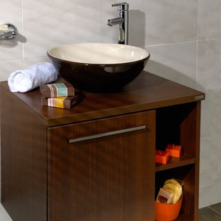 Mueble napa para lavamanos ba o pinterest for Lavamanos rusticos de madera