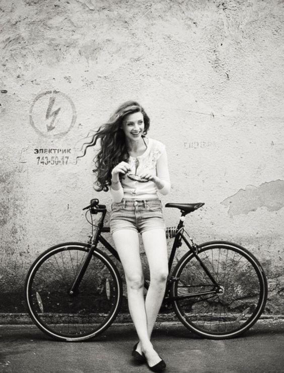 Sonho Menina com bicicleta