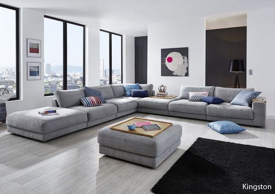 candy wohnlandschaft ecksofa kingston f r wohnzimmer bezug. Black Bedroom Furniture Sets. Home Design Ideas