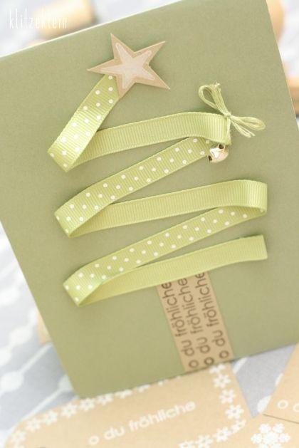 DIY Christmas Card - I love the christmas tree idea