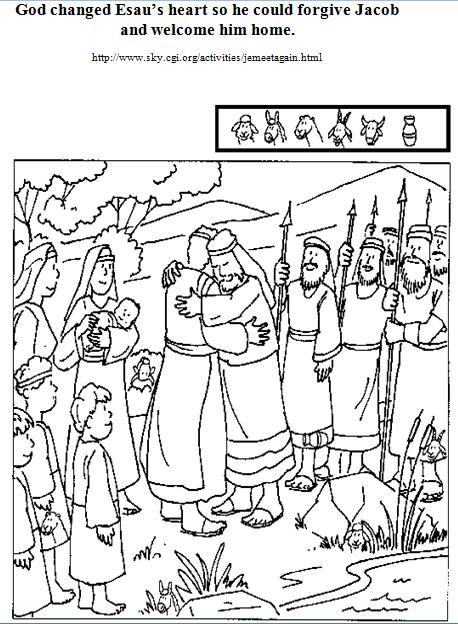 jacob and esau coloring pages printable jakob en ezau pinterest sunday school bible and bible stories