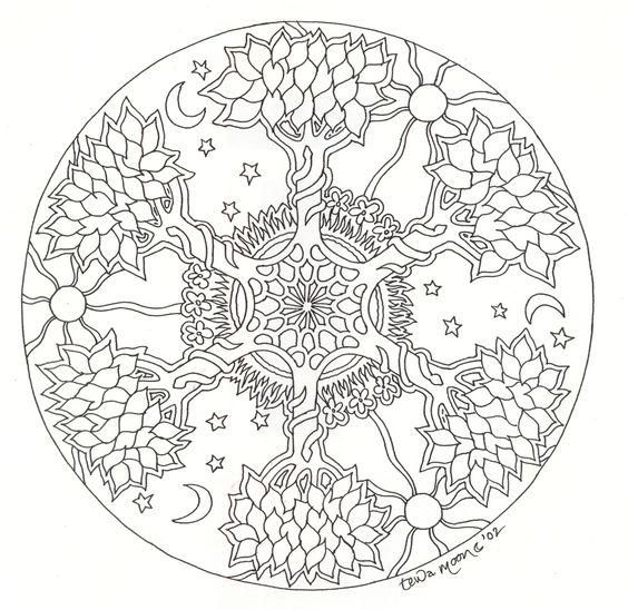 Mandala arbre #mandala #mandalas #coloriage