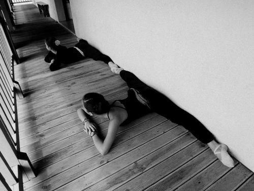 Trucha y yo en el ballet... Jejeje