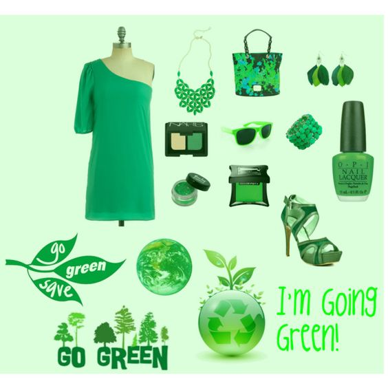 I'm going GREEN!, created by allison-laqualia-walker on Polyvore