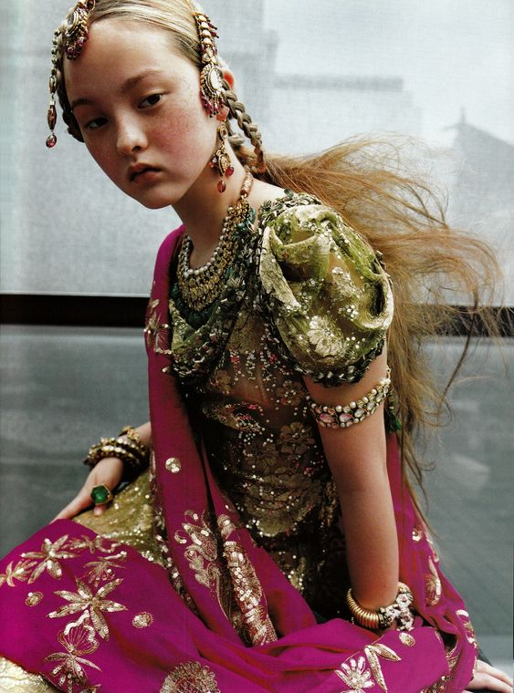 "wildthicket:    ""Couture Du Monde,"" Devon Aoki photographed by Ruven Afanador for Vogue Paris September 1999"