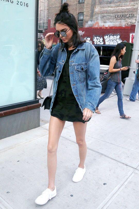 Oversized jean jacket.:
