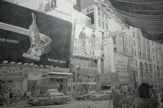 hiperrealista do artista escocêsPaul Cadden. Ele desenvolve ilustrações em cima de fotos usando grafite com um nível de detalhe impressionante.