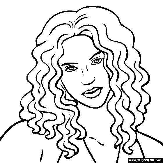 shakira coloring pages games - photo#19