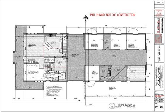 Horse barn with living quarters plans barns pinterest for Horse barn with living quarters plans