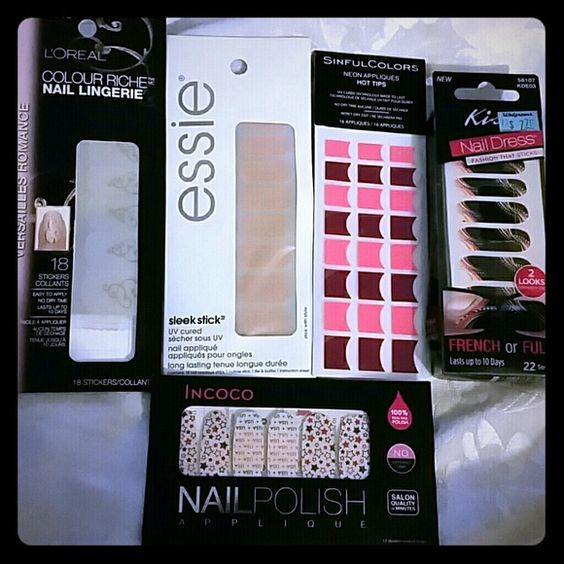 5 nail wrap sets *5/$20 or 15/$60 or 45/$90 Please specify how many of each color you would like   A to zebra Seared bronze Croc' n chic Stick with style Chateau you go nail lingerie Brave brillia  Buy more save more 2/$10 3/$15 4/$20 5/$25  6/$30 variety 7/$35 variety  8/$40 various  9/$45 variety  10/$50 variety 12/$55 variety 15/$60 variety 20/$65 variety 25/$70 variety 30/$75 variety 35/$80 variety 40/$85 variety 45/$90 variety W/ purchase  Essie, avon, kiss, sinfulcolors, broadway…